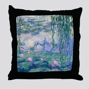 Water Lilies Claude Monet Fine Art Throw Pillow